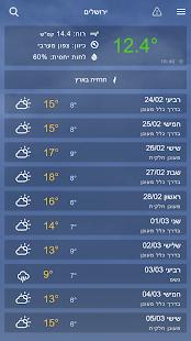Weather2day Israel Weather v2.20 screenshots 1