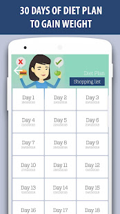 Weight gain diet and exercises in 30 days v2.0 screenshots 2