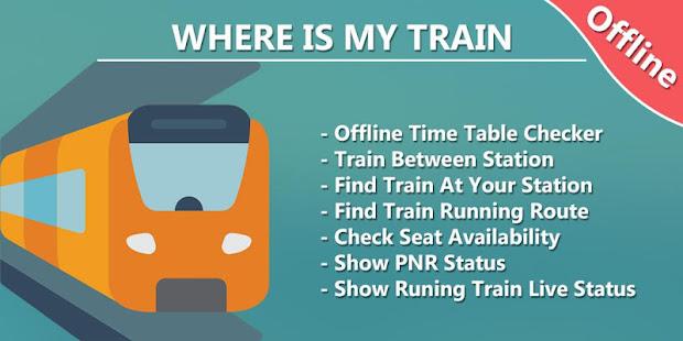 Where is my Train – Train Live Location amp Status v1.8 screenshots 1