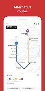 Yandex.Metro detailed metro maps and route times v3.6.3 screenshots 2