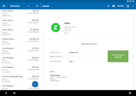 Zoho Invoice – Free Online Invoicing amp Billing App v5.23.34 screenshots 10