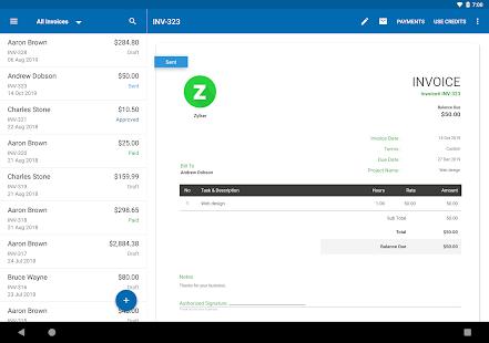 Zoho Invoice – Free Online Invoicing amp Billing App v5.23.34 screenshots 9
