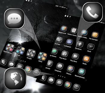 BlackampWhite Launcher Theme v1.296.1.180 screenshots 1