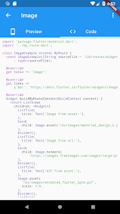 Flutter Catalog with source code side-by-side v3.0.0 screenshots 4