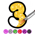 Free Download Glitter Number and letters coloring Book for kids 4.0 APK