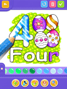 Glitter Number and letters coloring Book for kids v4.0 screenshots 13