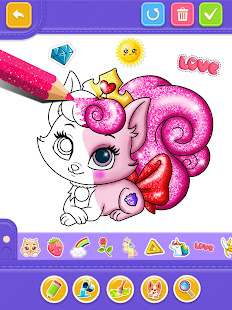 Glitter Number and letters coloring Book for kids v4.0 screenshots 14