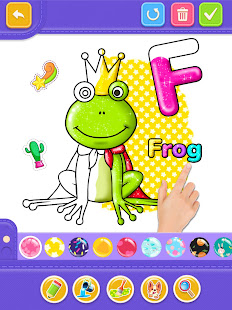 Glitter Number and letters coloring Book for kids v4.0 screenshots 15