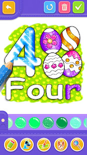 Glitter Number and letters coloring Book for kids v4.0 screenshots 3
