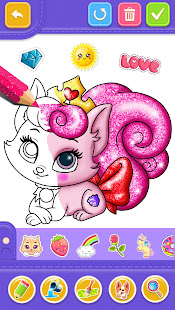 Glitter Number and letters coloring Book for kids v4.0 screenshots 7
