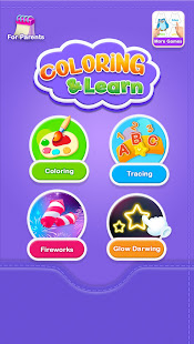Glitter Number and letters coloring Book for kids v4.0 screenshots 8