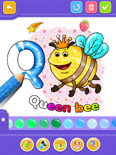 Glitter Number and letters coloring Book for kids v4.0 screenshots 9