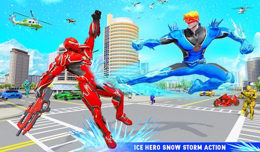 Snow Storm Robot Super Hero v6.0.0 screenshots 16