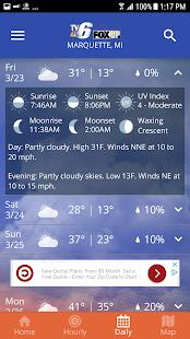 TV6 amp FOX UP Weather v5.3.700 screenshots 5