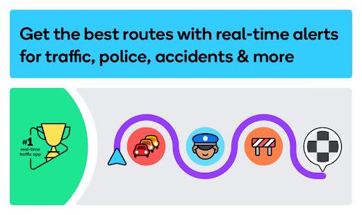 Waze – GPS Maps Traffic Alerts amp Live Navigation v4.77.0.1 screenshots 1