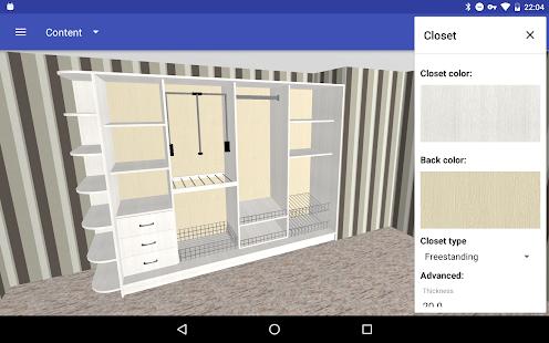 Closet Planner 3D v screenshots 13