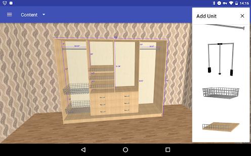 Closet Planner 3D v screenshots 2